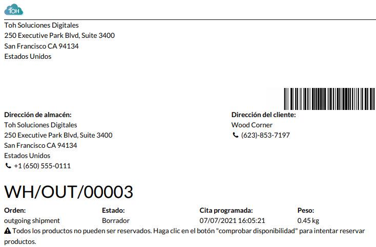 impresión pdf inventario